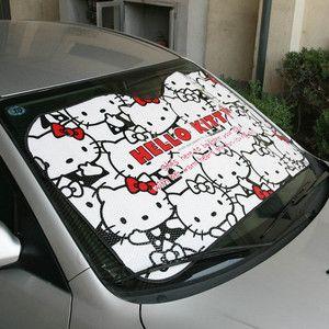 ☆hello Kitty☆ Auto Car Windshield Sunshade Sun Visor Summer Cooling 130  70cm New  9afa84dae8c