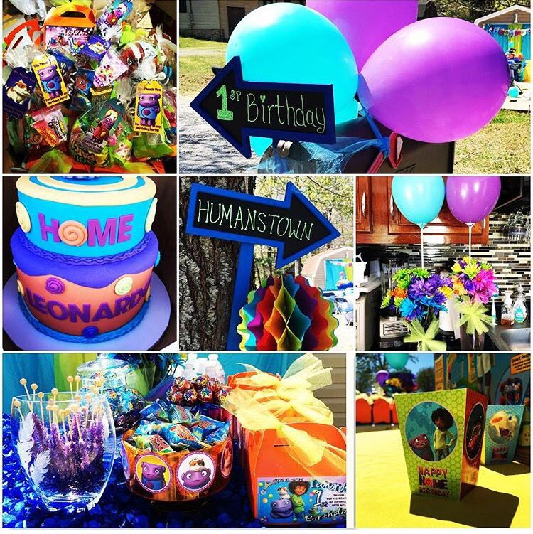 birthday party ideas boov party oh pig cat home the movie dreamworks purple and