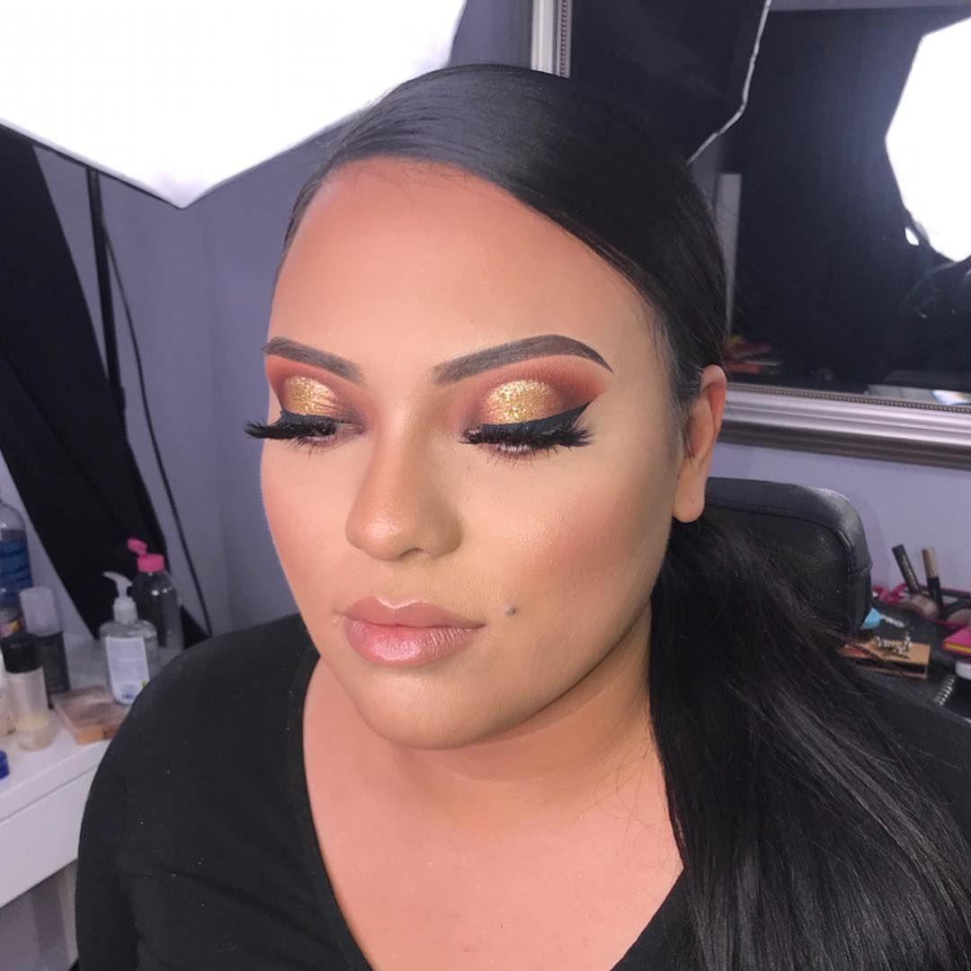 Used Anastasiabeverlyhills Soft Glam On The Eyes And Mermaidscalesusa Glitter Makeup Bridal Bridal Makeup Artist Makeup Prom Makeup