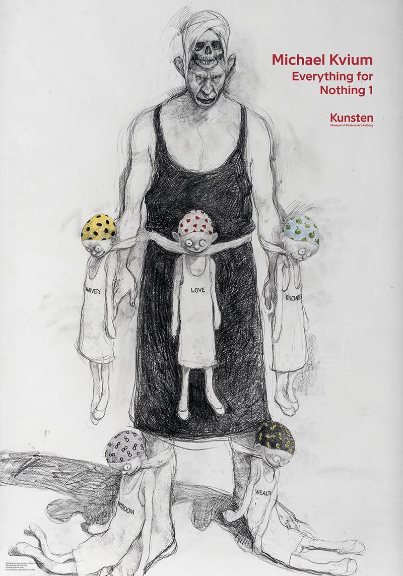 Plakat Michael Kvium Everything For Nothing 1 Plakater Kunstnere Kendte