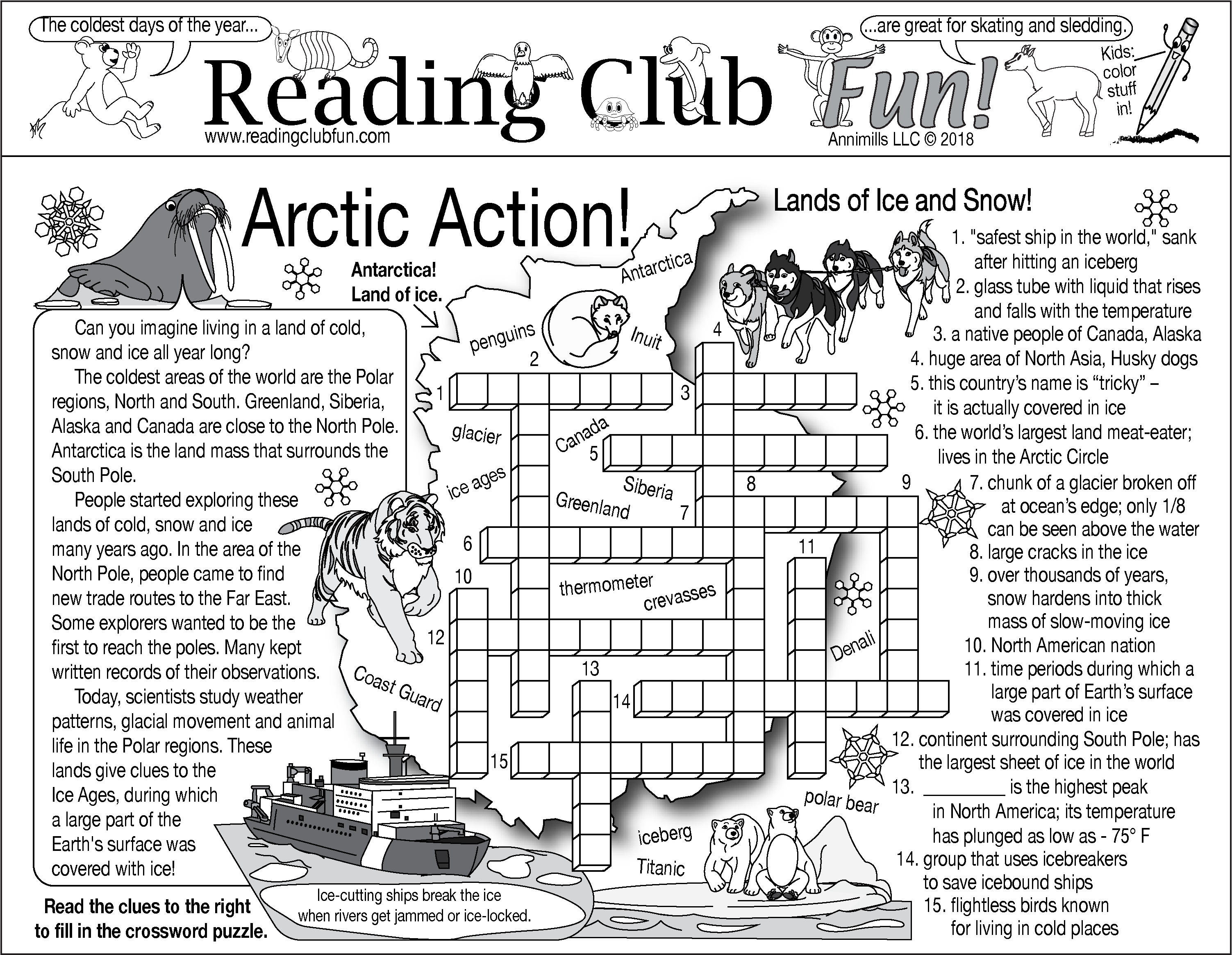 Arctic Action Puzzle Set