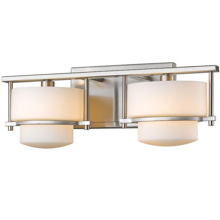 Photo of Z-Lite 3030-2V Porter 2 Light Bathroom Vanity Fixture – Brushed Nickel, No Finis…