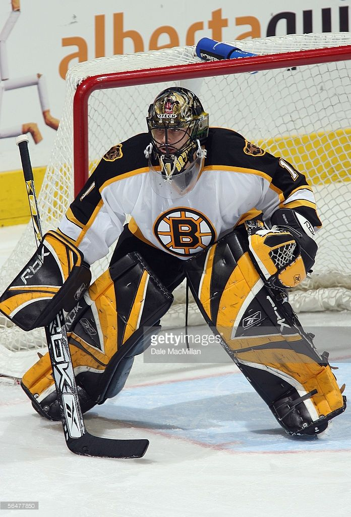 Andrew Raycroft Of The Boston Bruins Defends His Net Against The Picture Id56477850 696 1024 Boston Bruins Boston Bruins Hockey Bruins