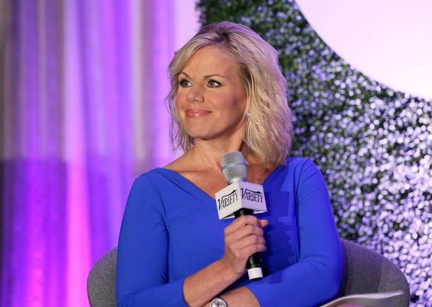 Gretchen Carlson speaks onstage during a 'Fireside Chat on Persecuted' at…