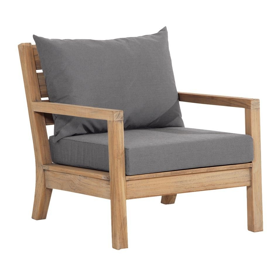 Loungesessel  Best Moretti Sessel Teak Lounge grey-wash - Loungesessel ...