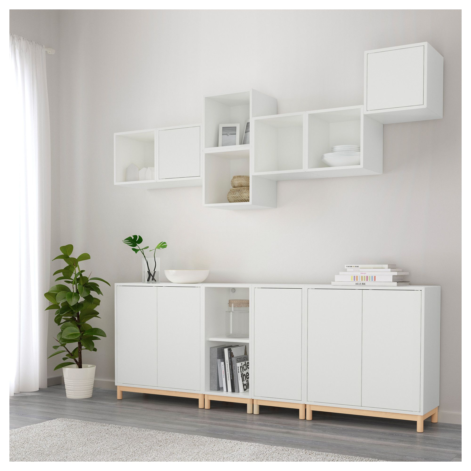 ikea eket storage combination with legs white products pinterest wohnzimmer ikea ideen. Black Bedroom Furniture Sets. Home Design Ideas