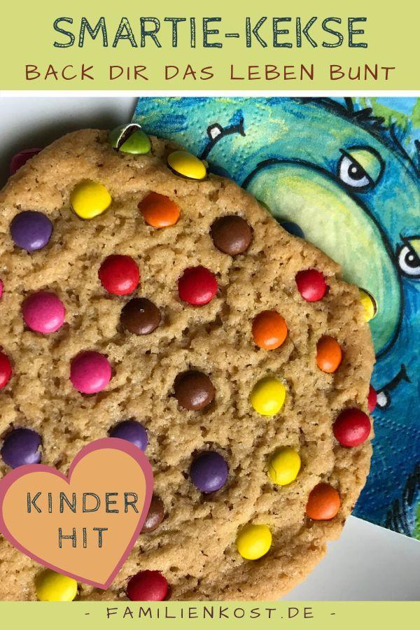 Cookies mit Smarties: Rezept für bunte Kekse für Kinder