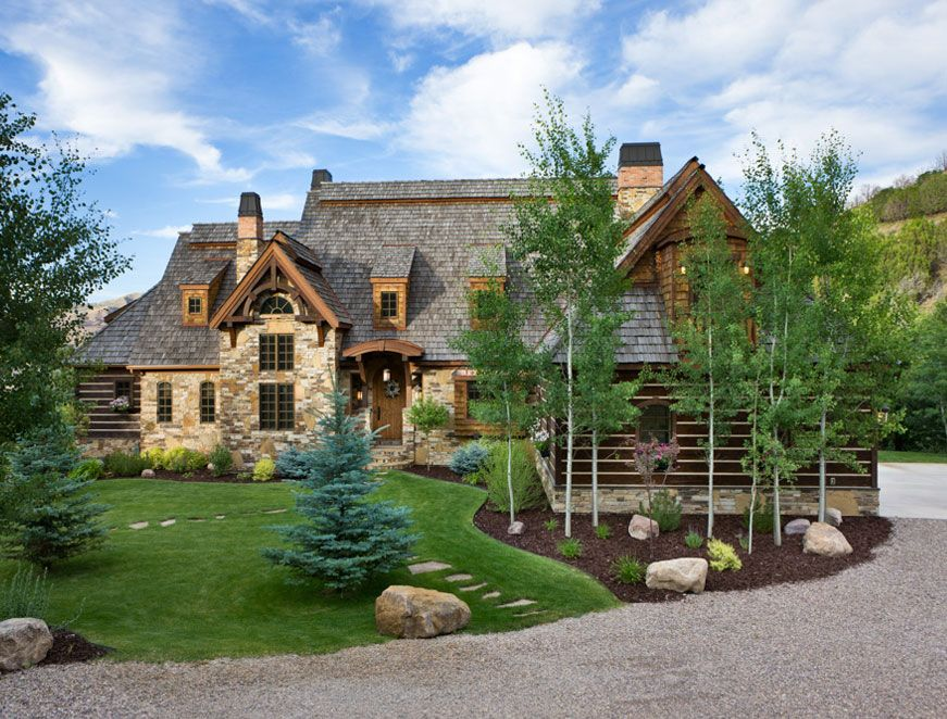French Country Inspired Exterior Idaho Timber Frame And