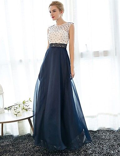 Sheath Column Illusion Skirt Prom Dress