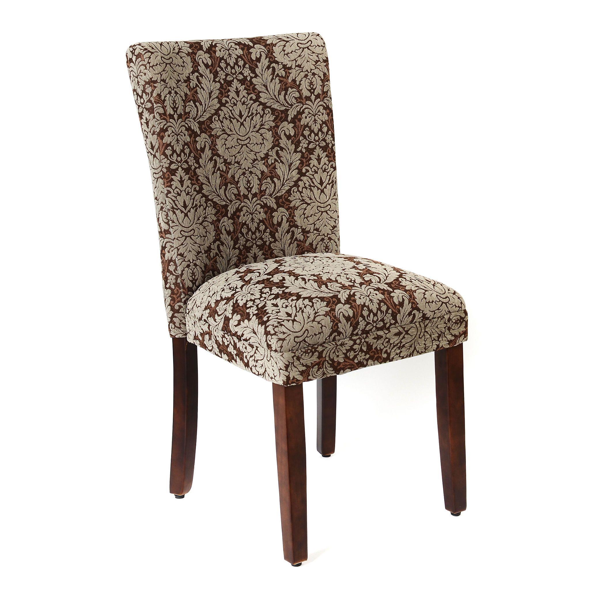 Brown Damask Parsons Chair | Kirklands