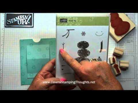 cardmaking video: Pop Up Slider Christmas Card with Dawn .. great card ... great video ... Stampin' Up!