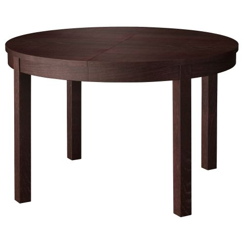 Bjursta mesa redonda extensible marr n negro ideas - Ikea mesas cocina redondas extensibles ...