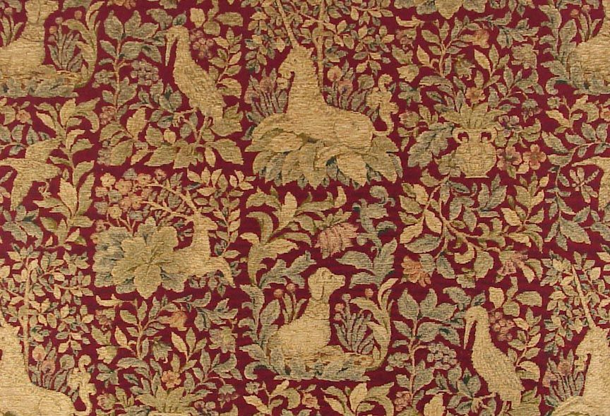 Upholstery Fabric Medieval Shield Crest Fabric Woven Tapestry