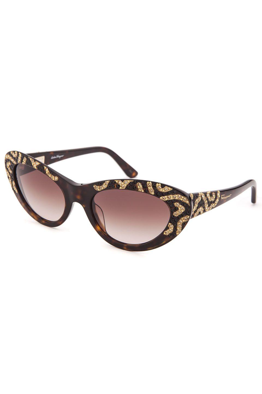 Salvatore Ferragamo - Ladies  Cat Eye Limited Edition Sunglasses in Tortoise ad4e0e2328