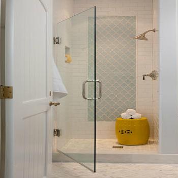 Smoke Arabesque Glass Tile Bathroom Shower Design Bathroom Design Bathrooms Remodel