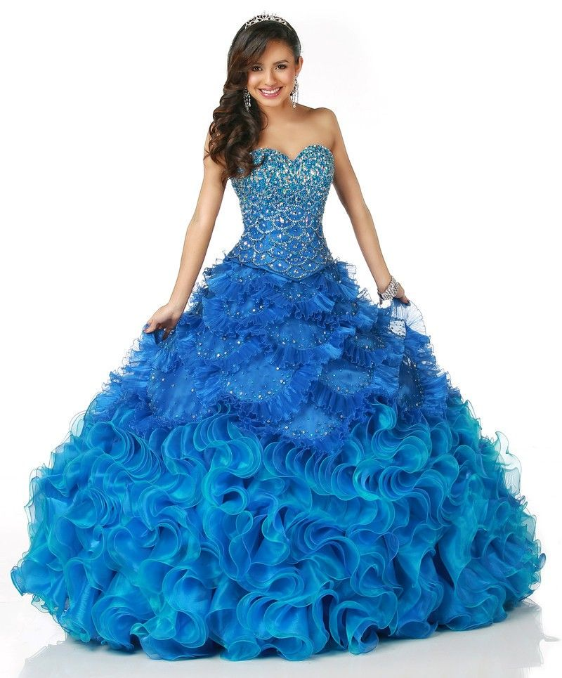 Aqua colored quince dresses blue