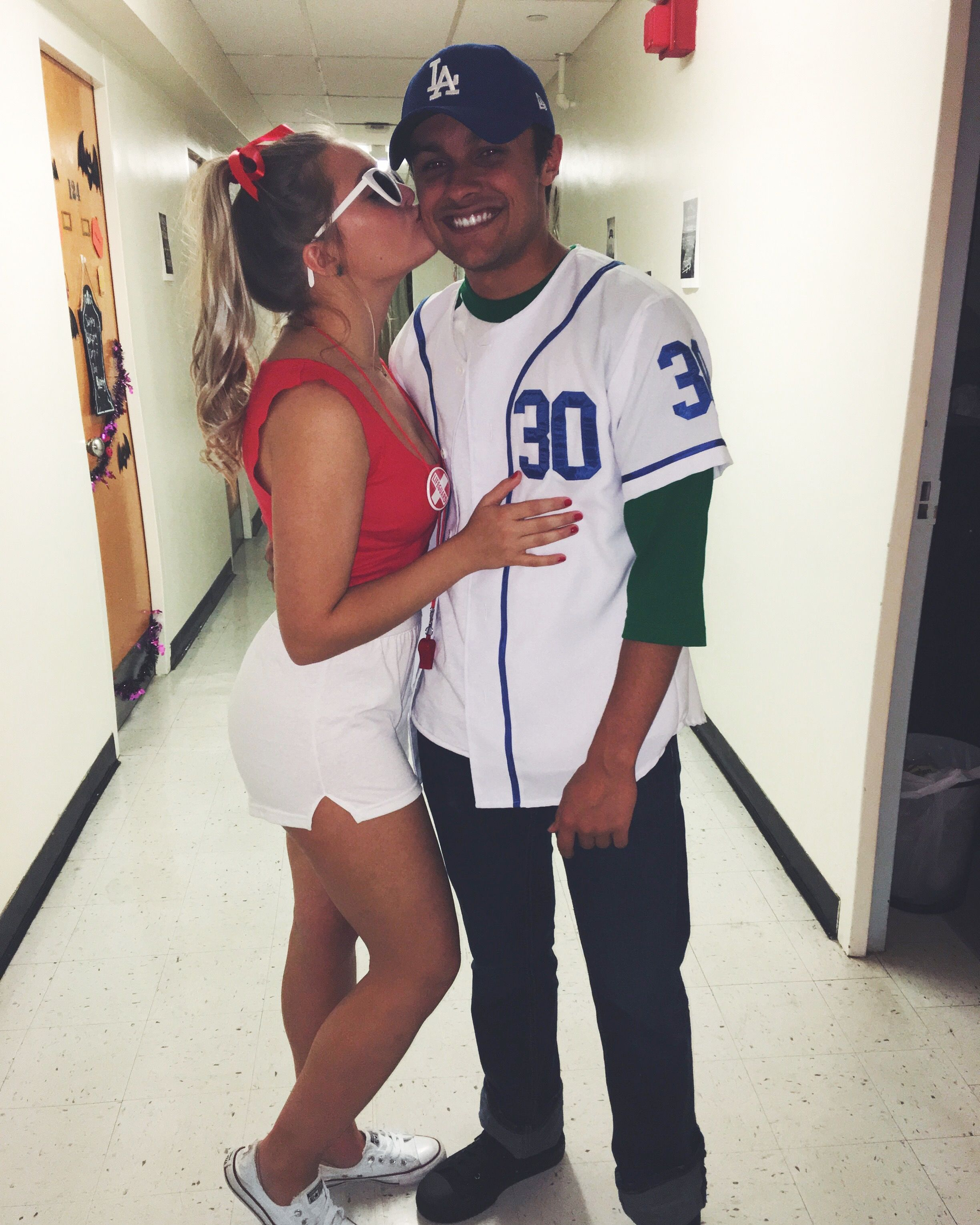 DIY easy Halloween costumes; Wendy peffercorn and benny the jet from the sandlot  sc 1 st  Pinterest & DIY easy Halloween costumes; Wendy peffercorn and benny the jet from ...