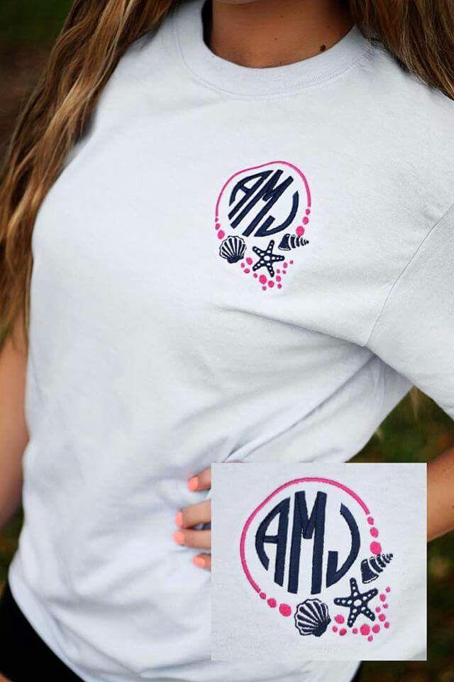 Pin By Marie K On Tshirts Cricut Monogram Monogram Shirts Monogram T Shirts