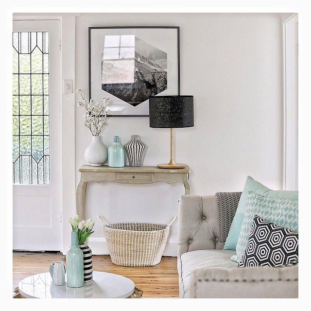 Falling for these mint tones in Manly, we had lots of fun on this one @amazema_interiors #interiors #instagood #interiordesign #decor #design #living #mint #grey #blackandwhite #style #styling #propertystyling #northernbeaches #forsale  by @simonwhitbreadphoto