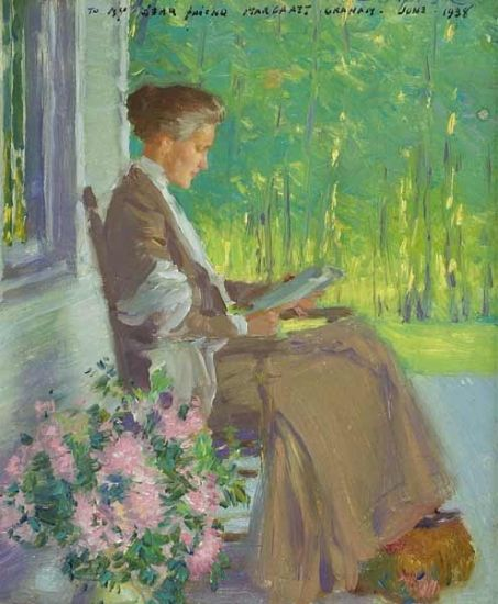 Edward Dufner   PORTRAIT OF THE ARTIST'S WIFE