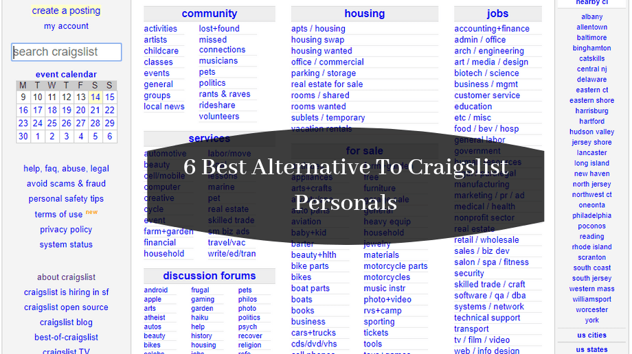 Craigslist Personal Is Famous For Its Personal Ad Section In This Article We Have Shared 6 Best Alternative To Craigslist Perso In 2020 Post Free Ads Free Ads Person