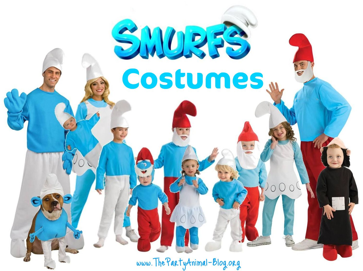 Smurf The Smurfs Retro Cartoon Character Fancy Dress Up Halloween Child Costume