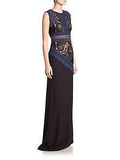 Antonio Berardi - Sleeveless Lace Bodice Gown