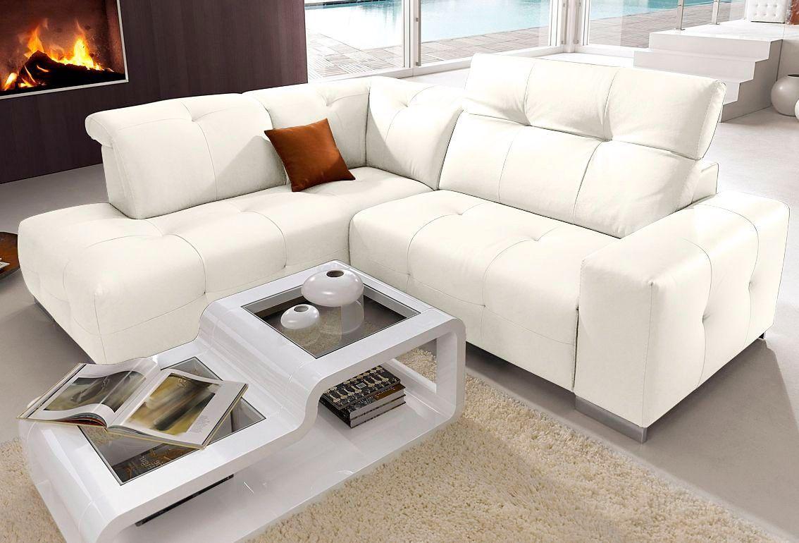 Brilliant Sofa Mit Relaxfunktion Galerie Von Polstergarnitur Weiß, Relaxfunktion, Ottomane Links, Yourhome Jetzt