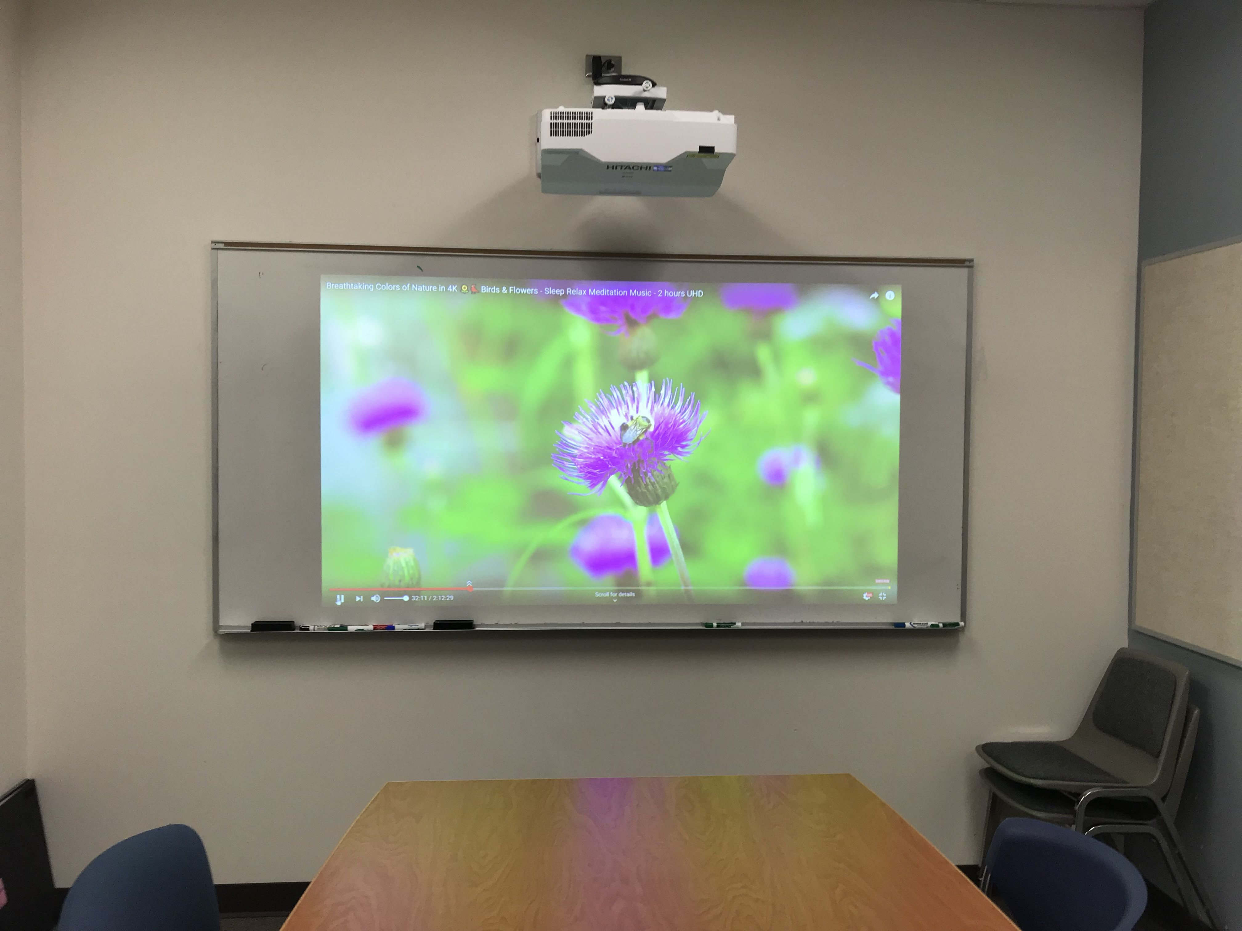 Hitachi Ultra Short Throw Projector In Conference Room Projector Setup Short Throw Projector Setup