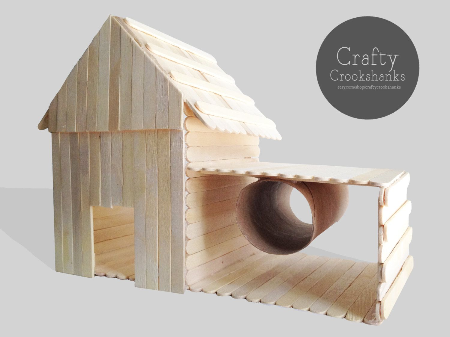 Hamster Barn House With Side Tube And Tunnel By Craftycrookshanks Hamster Diy Hamster Toys Diy Hamster Toys