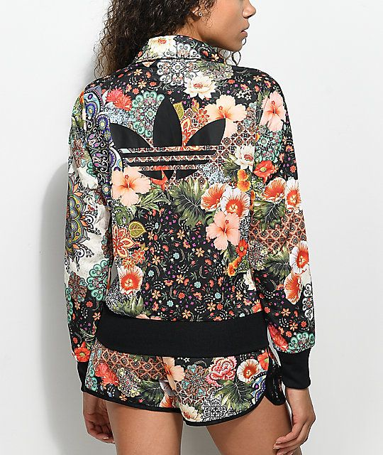 the best famous brand latest adidas x Farm Rio Jardim Track Jacket | Outfits, Jackets for ...