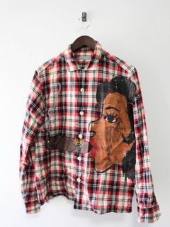 5e26b80b013c Comme des Garcons SS03 Girl Smoking A Cigar Plaid Shirt