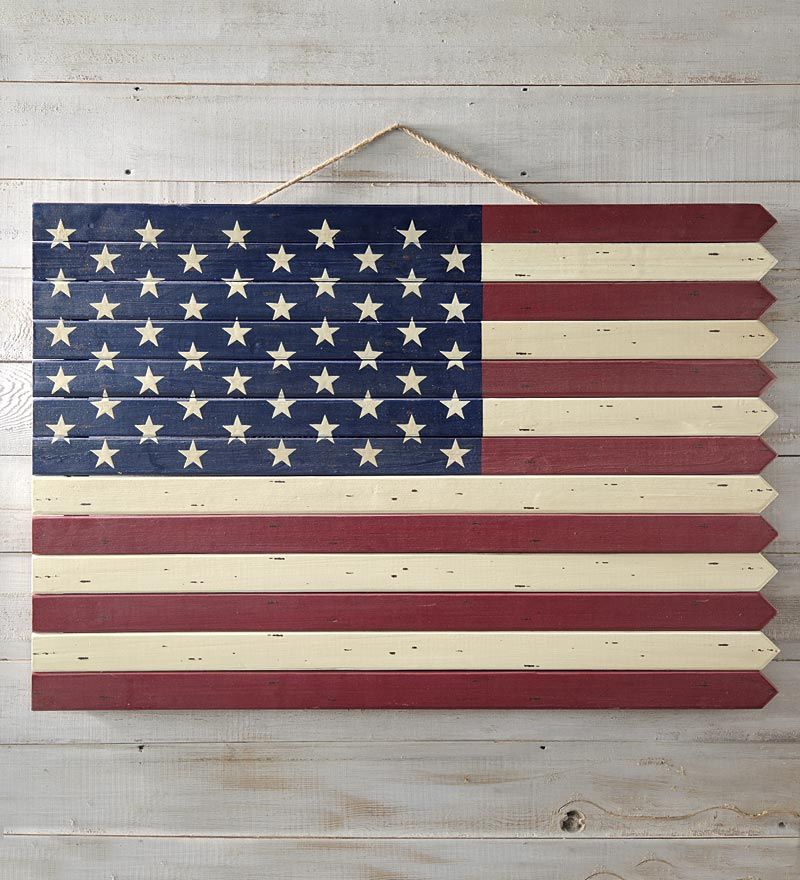 Wooden Americana Flag Flag Wall Decor American Flag Wall Decor American Flag Wood