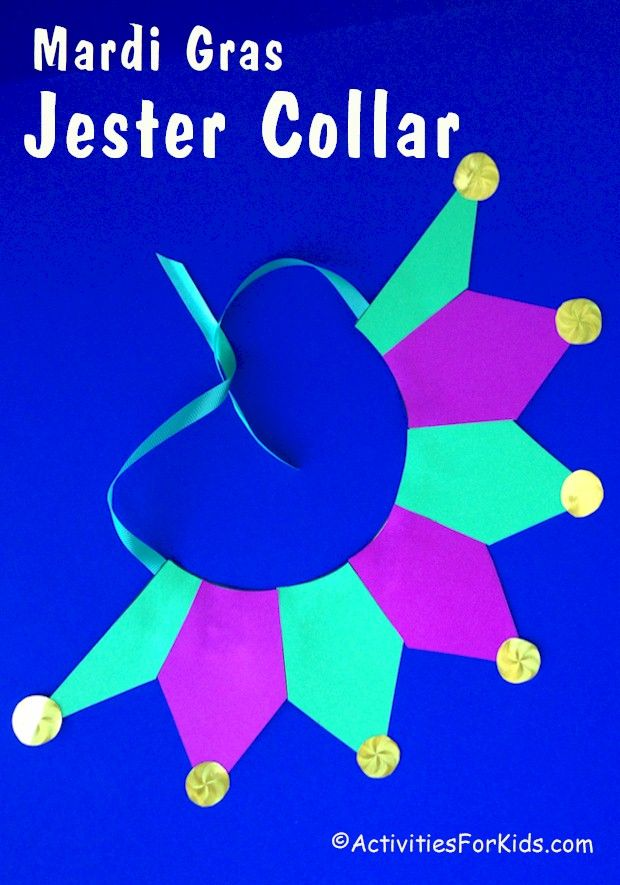 Mardi Gras Kids Crafts Part - 32: Get Into The Spirit Of Mardi Gras This Year With An Easy To Make Jester  Collar