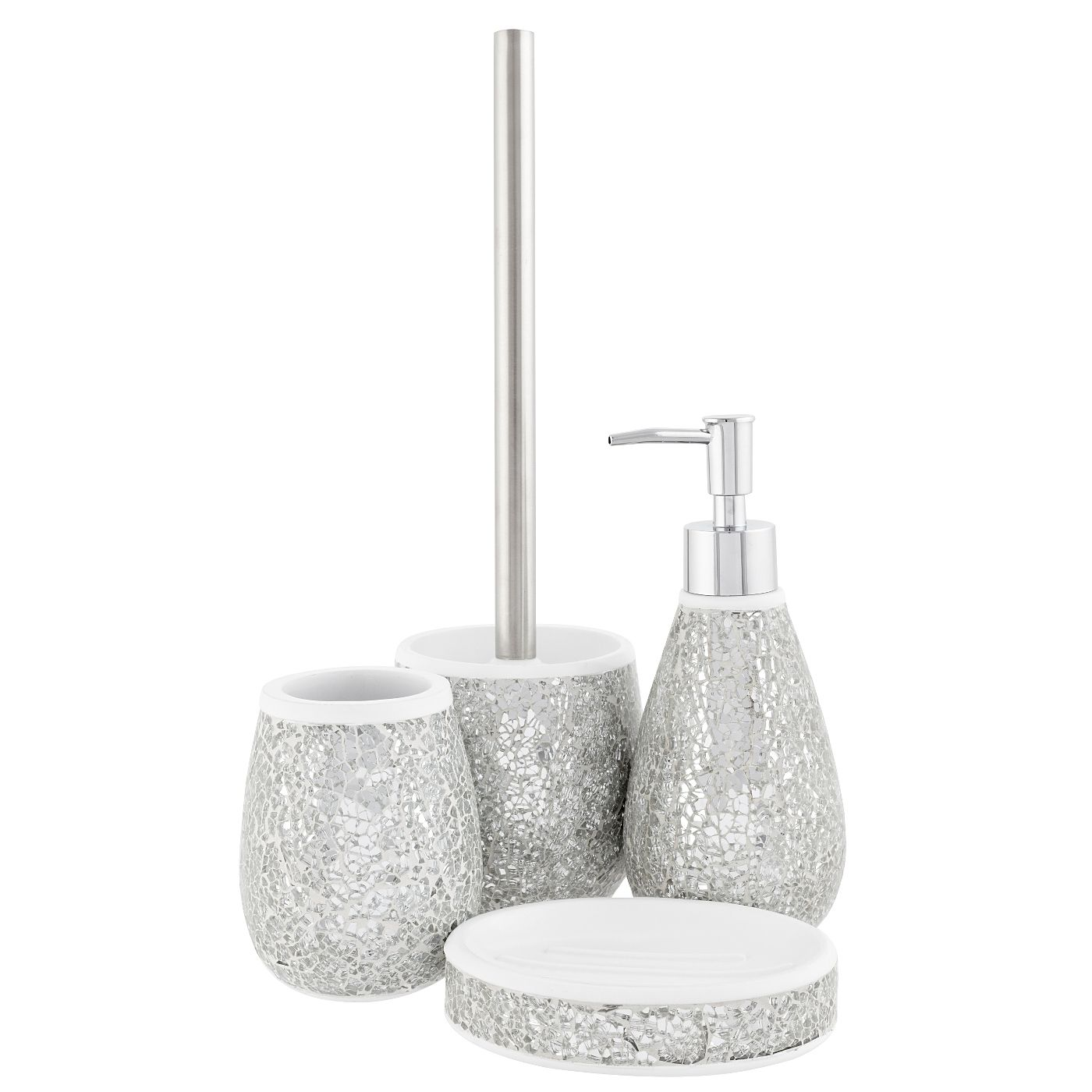 George Home Accessories - Silver Sparkle | Bathroom Accessories ...