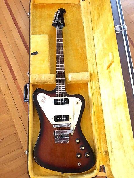 Gibson Firebird I Non-Reverse Sunburst 1965 in 2019   Fiery Firebird