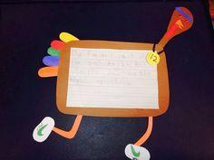 The Great Turkey Race.   Cute craft/ writing