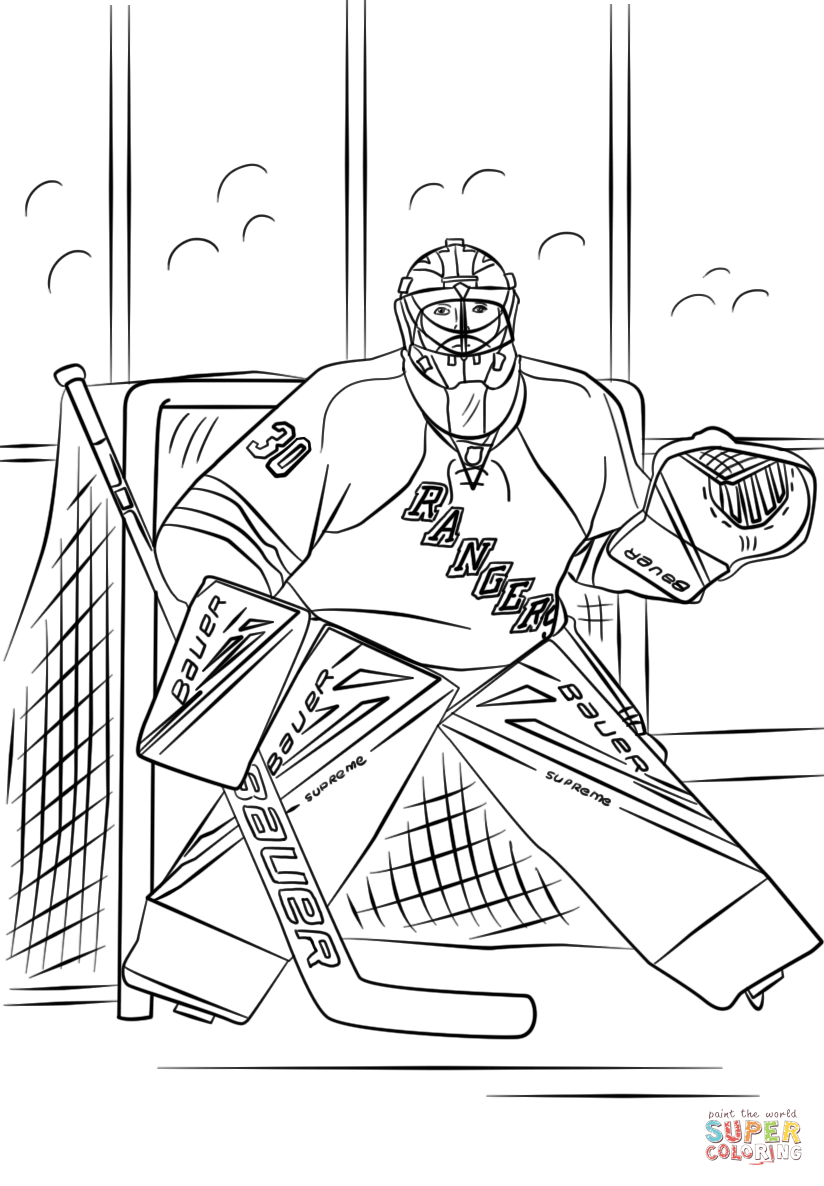 Henrik Lundqvist Super Coloring Hockey Drawing Henrik Lundqvist Coloring Pages