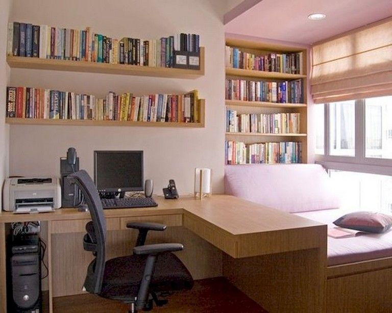75 Stunning Home Office for Small Space | Cozy home office ...