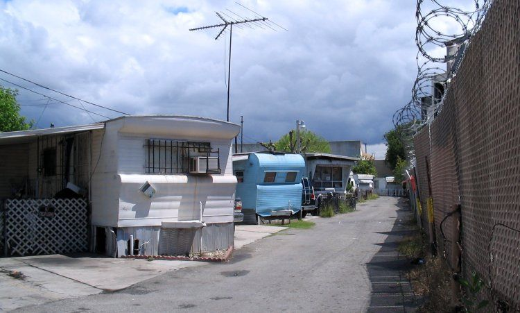 Trailer Park, with barb wire! | So Cool Trailer Parks | Pinterest | Park