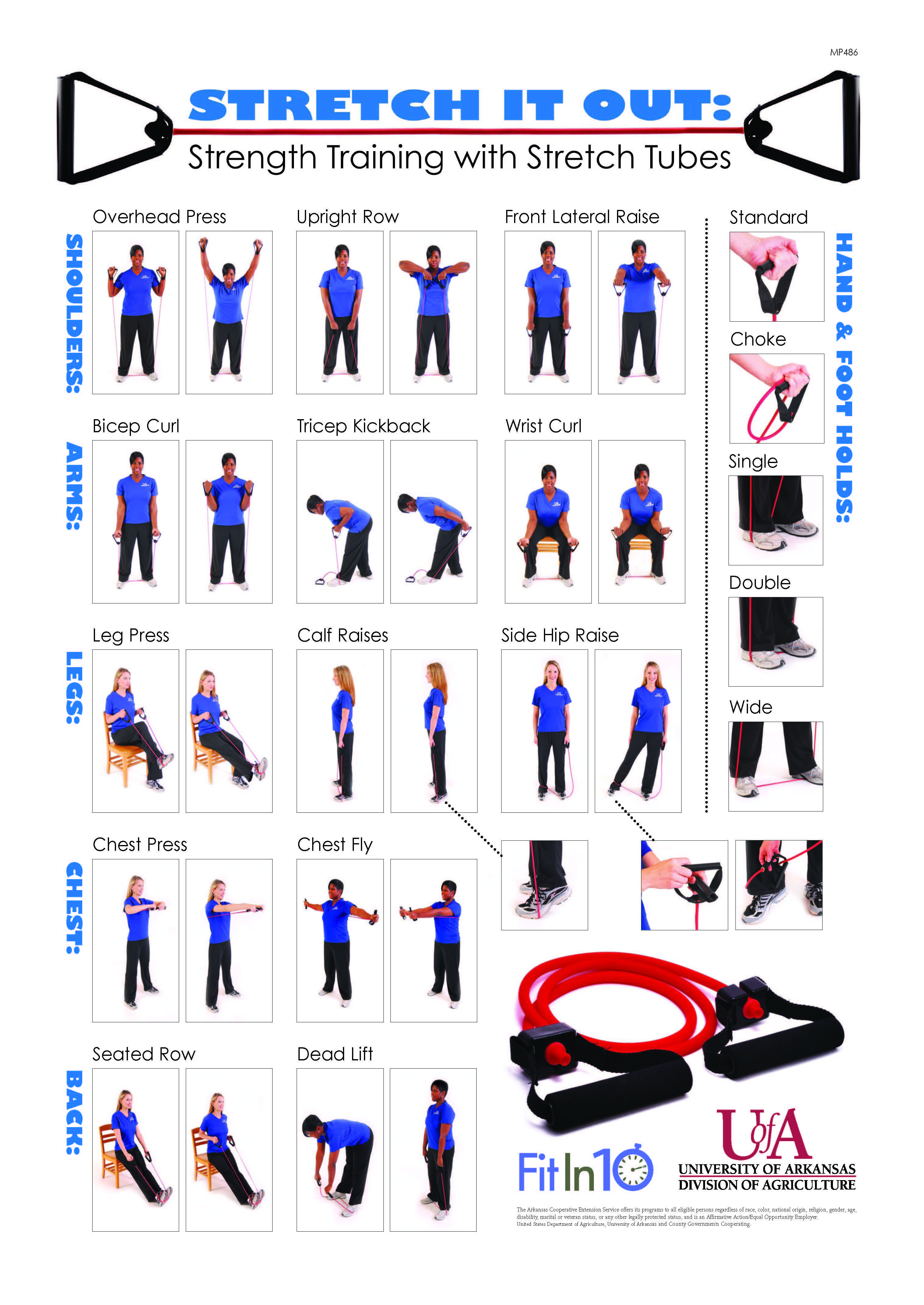 Resistance tubes offer numerous exercise options. Whether being used for adding muscle tone, muscle...