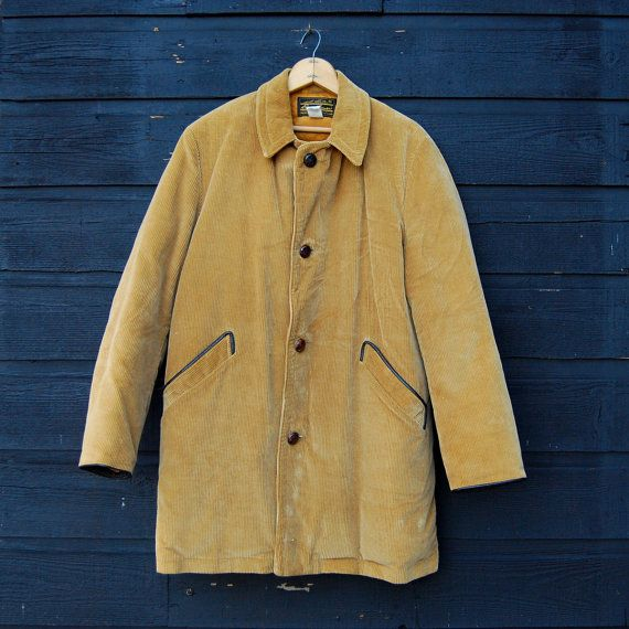 70s Corduroy Jacket, Eddie Bauer Tan Goose Down Coat