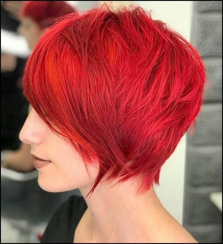 Kurze Rote Frisuren Jahr 2019 2020 Modern Frisuren Frisur Rot Kurz Geschnittene Frisuren Haarschnitt Ideen