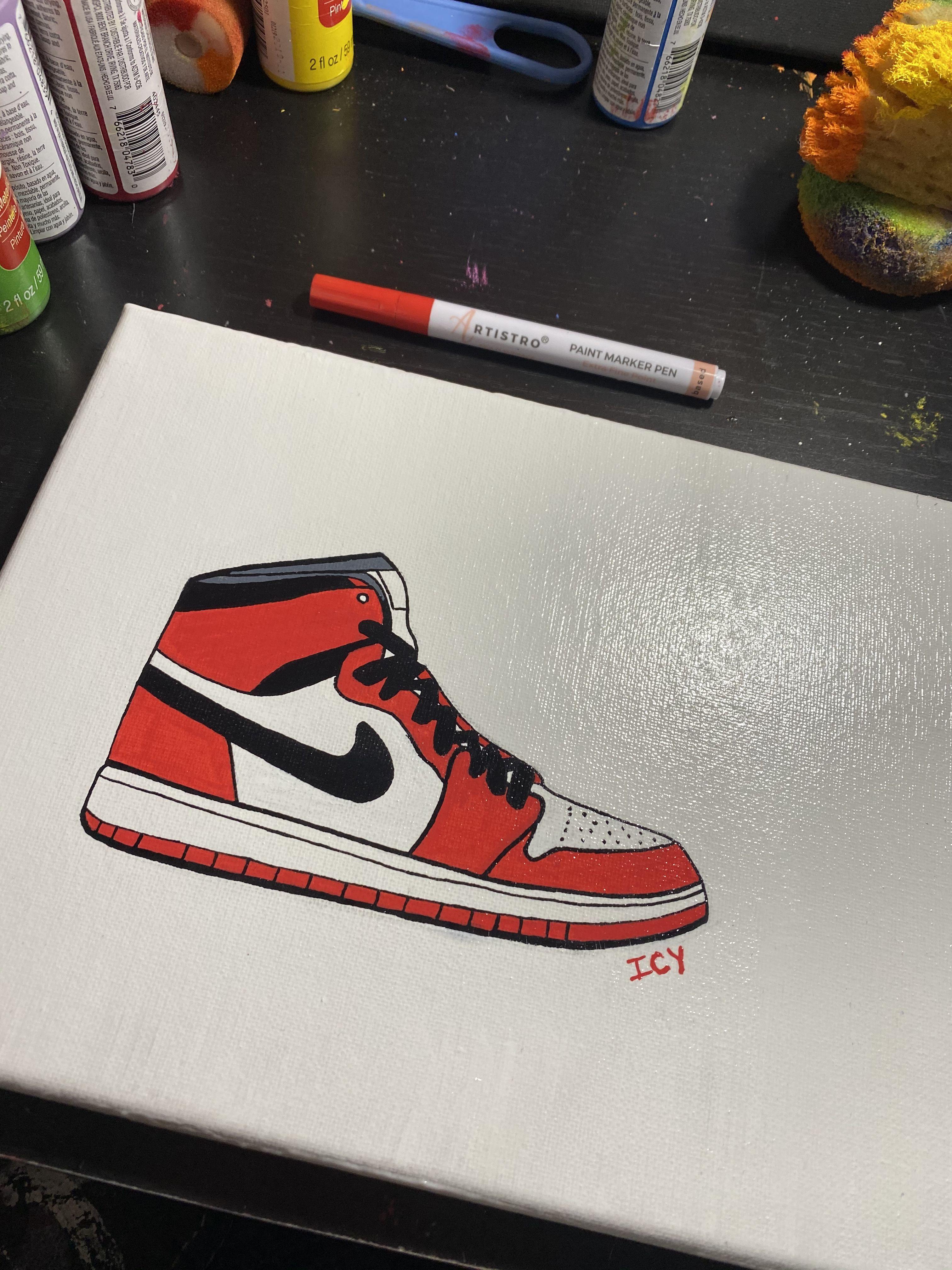 Air Jordan 1s Canvas Painting Canvas Art Painting Canvas Drawings Mini Canvas Art