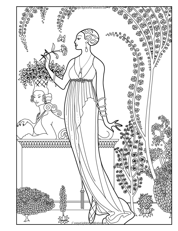 Amazon Adult Coloring Book Vintage Series The Masters Of Fashion Illustration