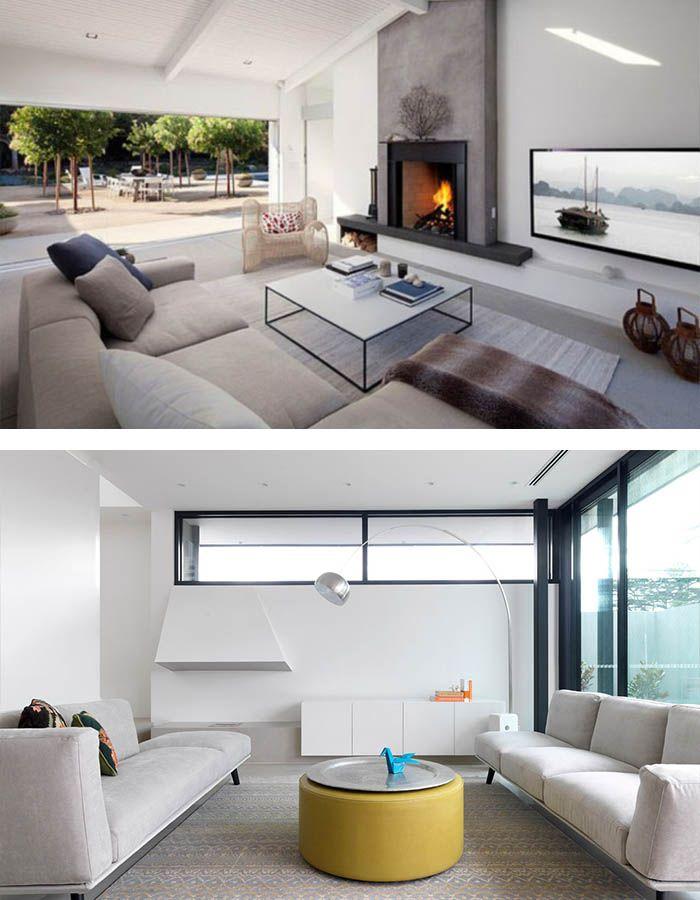 Minimalistisch einrichten gemütliches wohnzimmer einrichten dezente akzente