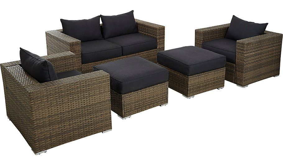 Borneo 5 Piece Sofa Set Light Brown Read Reviews And Buy Online At George At Asda Shop From Our Latest Ra Conversation Sofa Conservatory Furniture Sofa Set