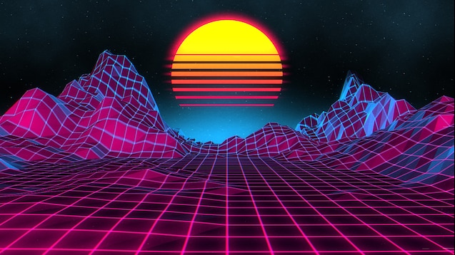 Steam Atolyesi Neon Sunset Neon Backgrounds Vaporwave Wallpaper Sunset Wallpaper