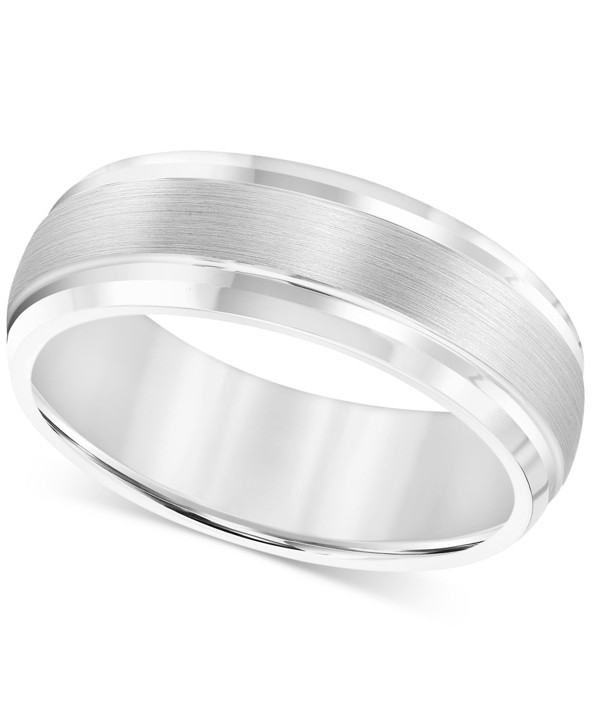 Triton Men S Cobalt Ring 8mm Wedding Band Reviews Rings Jewelry Watches Macy S In 2020 8mm Wedding Band Silver Wedding Bands Mens Wedding Bands