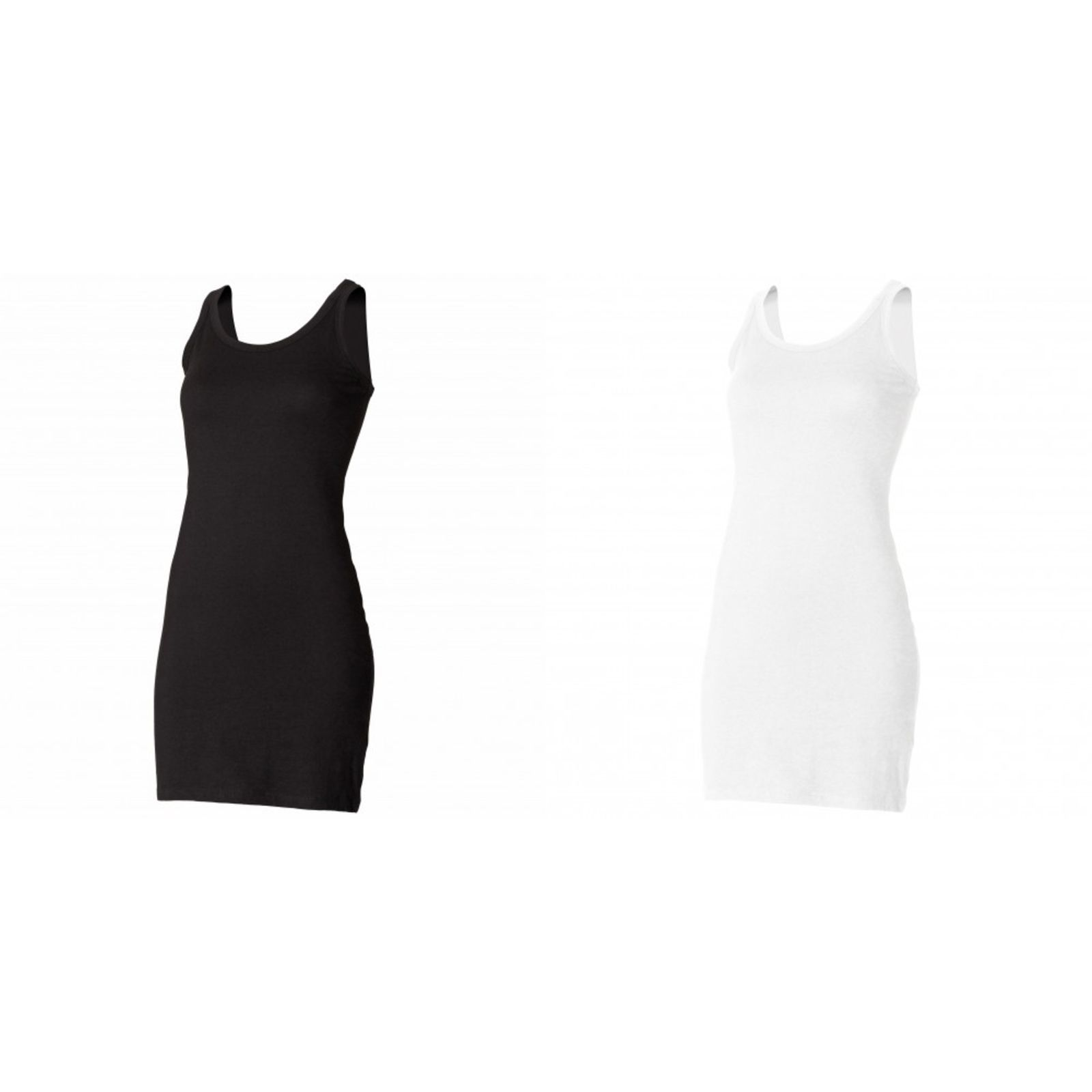 Skinni Fit Ladies Womens Extra Long Stretch Tank Vest Top Sizes S-Xl  (Rw1366) 174ce89e7